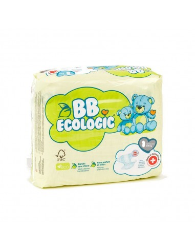 Pañales ecológicos BBECOLOGIC Talla 1...