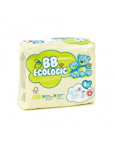 Pañales ecológicos BBECOLOGIC Talla 3...